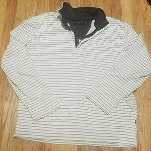 White Striped Nautica Pullover - Large